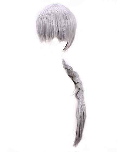 Fwhwj Howl's Moving Castle Sophie Cosplay Wig Gray Braided Braid Hair