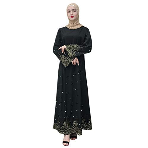 Womens Coat Muslim Women Lace Trimmed Front Abaya Muslim Maxi Kaftan Kimono