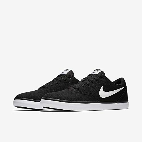 b359bfd0987f3 Nike Men's SB Check Solar CNVS Black/White Skate Shoe 7.5 Men US / 9 Women  US