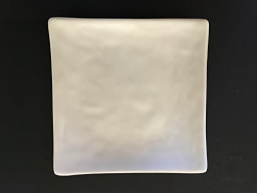 Lucky Star Melamine Square Plates Dinner Appetizer Platter Snack Side Dish, 6 inch or 5 inch, Off-White (96, 6 inch X 6 inch)