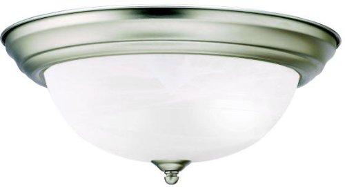 - Kichler 8109NI Flush Mount 2-Light, Brushed Nickel