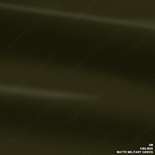 3M 1080 M26 MATTE MILITARY GREEN 5ft x 50ft (250 Sq/ft) Car Wrap Vinyl Film