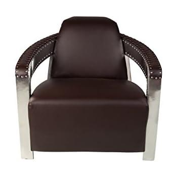 Design Tree Home Aviator Occasional Chair Dark Brown