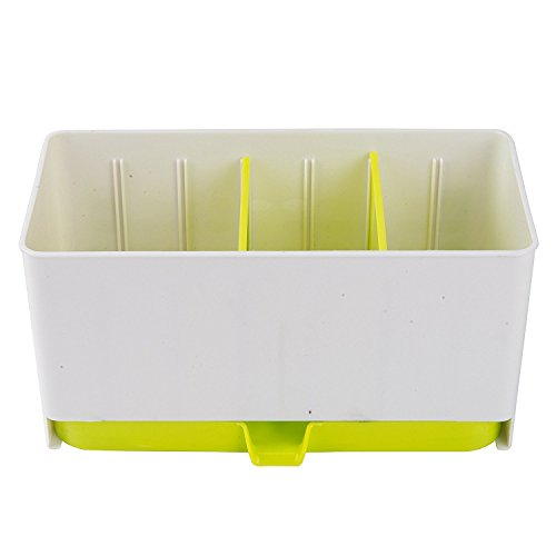 Kitchen Organizer Flatware caddy Utensils Drying Rack Holders (Green)