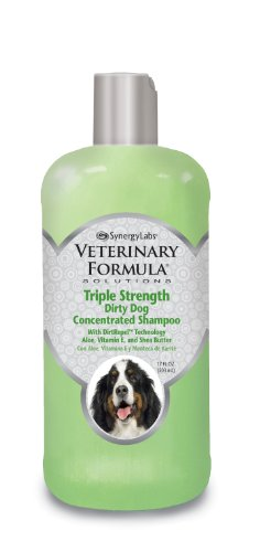 Veterinary Formula Solutions Triple Strength Dirty Dog Concentrated Shampoo - DirtRepel Technology Cleans Extra Dirty and Smelly Dogs - With Wheat Protein, Shea Butter, Aloe, Vitamin E (17oz)