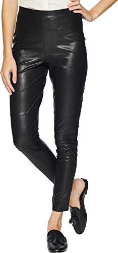 Splendid Women's Full Length Long Legging Bottom, Faux Leather Black, Large