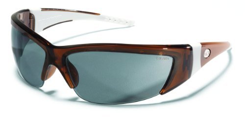 Crews FF222 ForceFlex 2 Safety Glasses with Translucent Brown Frame and Gray Lens, 1 Pair by MCR Safety