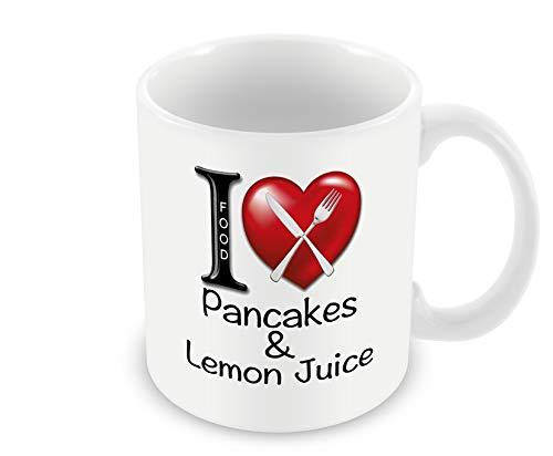 Chalkhill Printing Company CP 585 Food Mug-I Love Pancakes & Lemon Juice