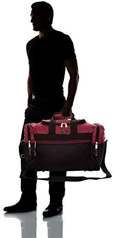 "DALIX 17"" Blank Duffle Bag Duffel Bag Travel Size Sports Durable Gym Bag"