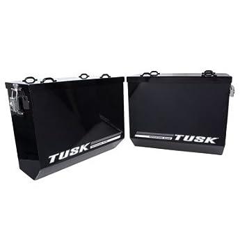 Tusk Cajas de aluminio para bicicleta (2 unidades), color negro: Amazon.es: Coche y moto