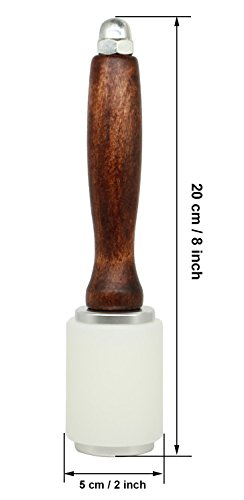 Stormshopping Leathercraft Wooden Handle Nylon Hammer - Wood Leather Carving Hammer Mallet for DIY Stamping Sew Leather Cowhide Tool