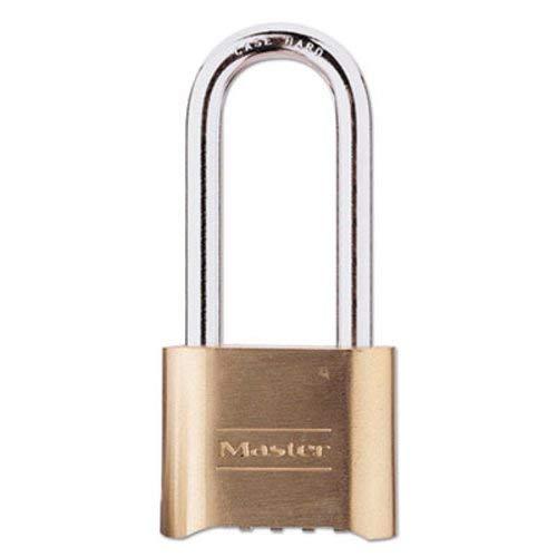 Master Lock - Resettable Combination Padlock, Brass, 2'', Brass Color, 6/Box 175LH (DMi BX by Master Lock