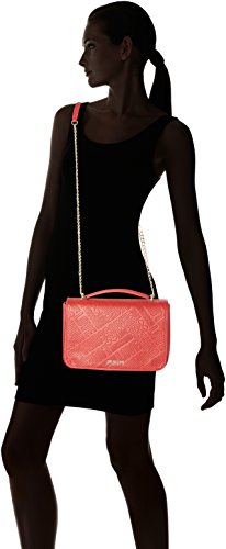 Love Moschino - Borsa Embossed Pu Rosso, Shoppers y bolsos de hombro Mujer, Rot (Red), 19x29x10 cm (B x H T)