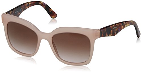 Prada Triangle - Prada TRIANGLE PR24QS Sunglasses UEW0A6-53 - Opal Pink Frame, Brown Gradient