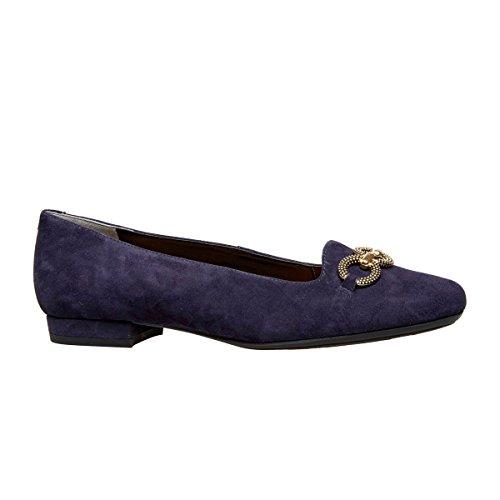 Van Dal Natick - Bailarinas de cuero mujer azul marino