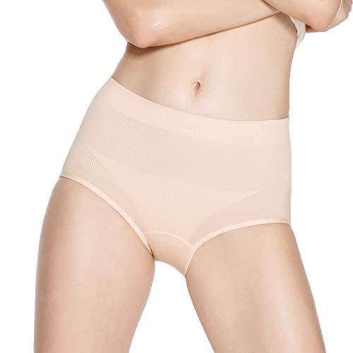- Eve's temptation Ruby High Waist Granny Panties Microfiber Tummy Control Underwear Brief for Women Pink XX-Large