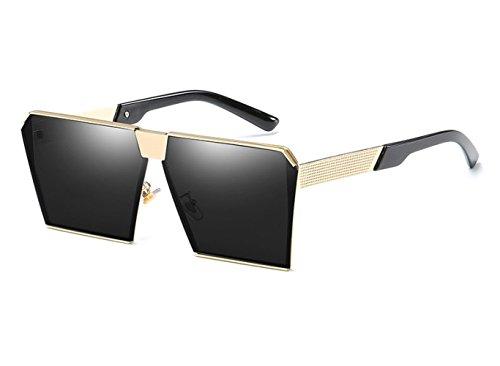 Retro De Europa Caja O Espejo Tendencia Viaje Sol De Gafas Sol De Gafas Grande Moda Conducción Playa C Metal ArYIxr