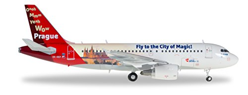 Herpa 558075 - CSA Czech Airlines Airbus A319 Prague City of Magic