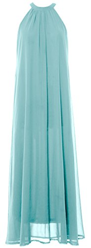 Aqua Wedding Bridesmaid MACloth Halter Cocktail Gown Dress Chiffon Women Long Party HHPwq7v