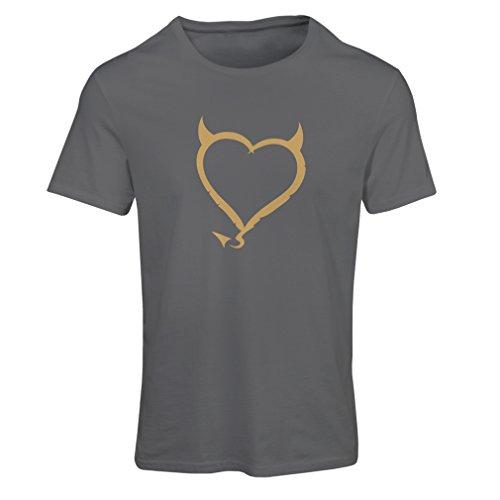 Frauen T-Shirt Teufel Herzen lustiges T-Shirt Geschenk Farben / Sizesblanc:  Amazon.de: Bekleidung