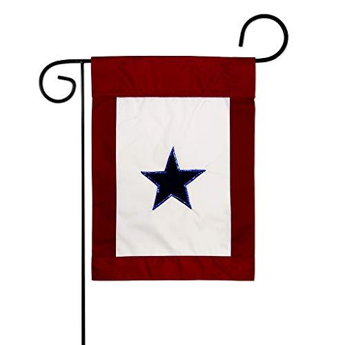 Blue Star Flag - Two Group G158042-P2 Blue Star Service Americana Military Decorative Vertical Garden Flag, 13