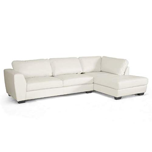 Baxton Studio Orland Leather Modern Sectional Sofa Set with