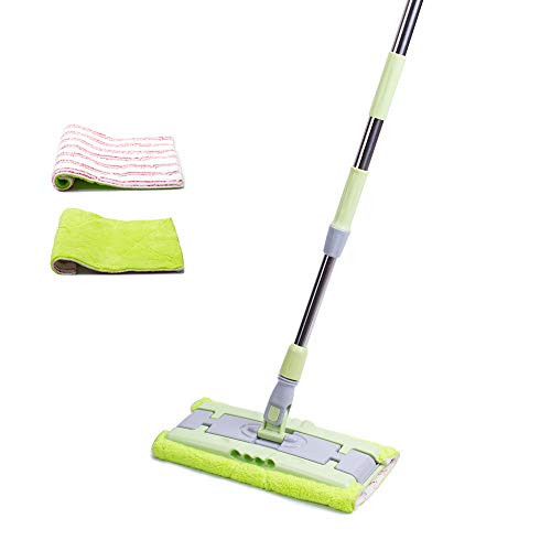 Microfiber Floor Mop, Advenfit Professional Flat Mop-Extension Handle with 3 Washable Pads for Hardwood and Laminate & Tile Floors Cleaning