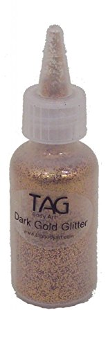 [Tag Glitter - Dark Gold (15ml Bottle)] (Gold Body Paint Costume)