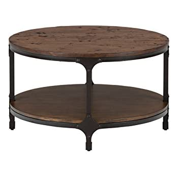 Jofran Urban Nature Wood Round Coffee Table In Pine Kitchen Dining