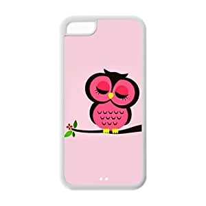 MMZ DIY PHONE CASETPU Case Cover for ipod touch 5 Strong Protect Case Cute Owl Always Love you Coffee Owl Case Perfect as Christmas gift(5)