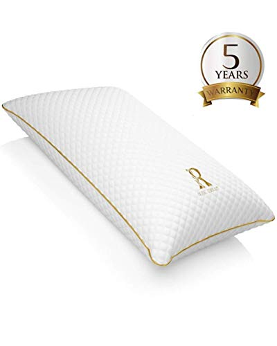 ROYAL THERAPY Memory Foam Pillow,Bamboo-Adjustable Shredded Odor-Free Pillow for Neck & Shoulder Pain Relief, Support for Back, Stomach, Side Sleepers, Orthopedic Contour Pillow, CertiPUR-US certified
