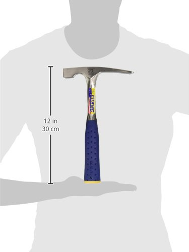 Estwing Bricklayer's/Mason's Hammer - 20 oz Masonary Tool with Forged Steel Construction & Shock Reduction Grip - E3-20BLC by Estwing (Image #6)