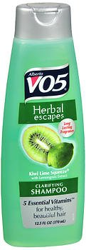 (Alberto Vo5 Herbal Escapes Kiwi Lime Squeeze Clarifying Shampoo, 15 Ounce (Pack of 2) )