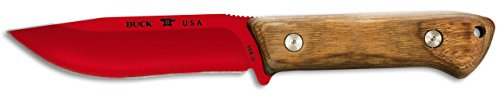 Buck Leather - Buck Knives 0104WAS COMPADRE Camp Fixed Blade Knife with Genuine Leather Sheath