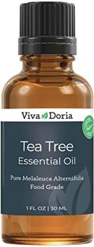 Viva Doria 100% Pure Tea Tree Essential Oil, Undiluted, Food Grade, Australian Tea tree oil, 30 mL (1fl oz)