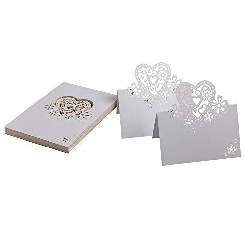 50 pcs wedding place card table numbers card name place card name