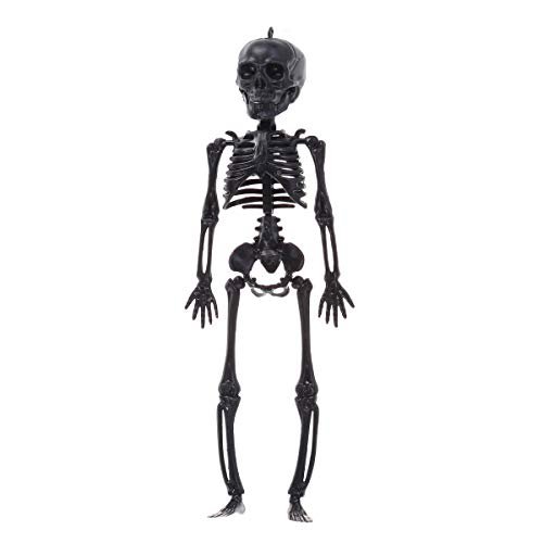 HEALIFTY Halloween Scary Skeleton Props Happy Halloween Spooky Skull Skeleton Frame Wall Hanging Decor (Black Skeleton)