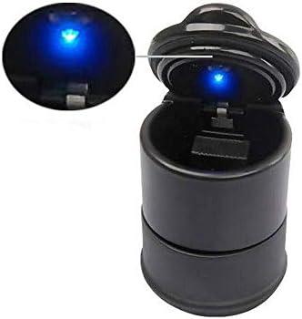 EUEMCH ポータブルLED煙車の灰皿タバコ灰ホルダーカップ自動ライトインジケーター灰皿車内部アクセサリー