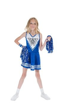 Blaues Cheerleader Kostum Grosse L Madchen Karneval 50258 Amazon De