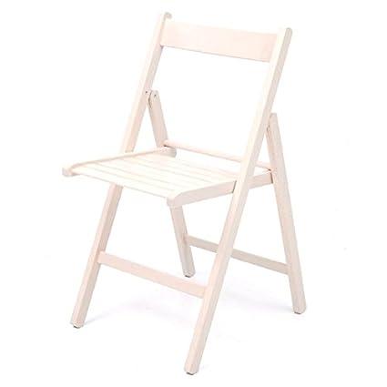 Sedie Pieghevoli Legno Colorate.Sedia Pieghevole In Legno Da Giardino Colore Bianco Confezione 6 Pz