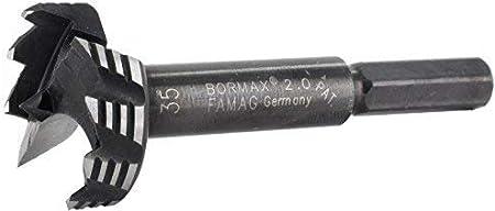 FAMAG Bormax 2.0 AO Ensemble de Foret Forstner 8-Pi/èces D=15,20,25,30,35,40,45,50mm dans la Boite