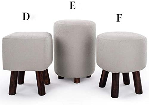 Super Amazon Com Carl Artbay Wooden Footstool Light Grey Small Ocoug Best Dining Table And Chair Ideas Images Ocougorg