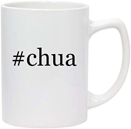 #chua - 14oz Hashtag White Ceramic Statesman Coffee Mug