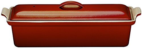 Le Creuset Enameled Cast-Iron 2 Quart Pate Terrine, Cerise ()