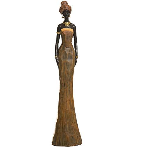 CASA FEBUS - African Woman Sculpture, Maasai Lady Figurine, Statue Decor Collectible Art Piece 4