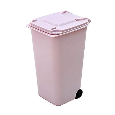 Jungen - Mini cestino per scrivania, pattumiera con coperchio, portaoggetti per mantenere in ordine la scrivania, 10 x 8 x 15,5 cm, plastica, Blue, 10 x 8 x 15,5 cm 10x 8x 15 5cm
