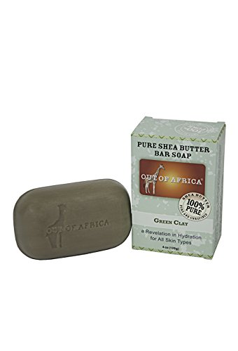Out Of Africa Green Clay Shea Butter Bar Soap, 4 Ounce Boxes