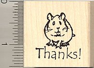 Thank you Hamster Rubber Stamp