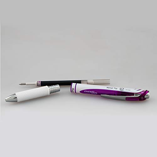 Pentel EnerGel Pearl Retractable Gel Ink Pen, (0.7mm), Violet Ink, 2-Pack (BL77WBP2V)