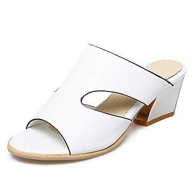 LvYuan Mujer-Tacón Robusto-Otro-Sandalias-Vestido Informal-PU-Azul Rosa Blanco White